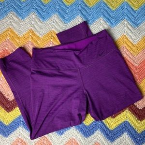 Nike Dri-Fit Purple Yoga Athletic Capri Leggings